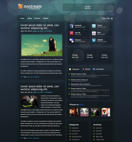 MyStream January 2010 WooThemes Theme