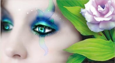 beau-visage-peint-flora