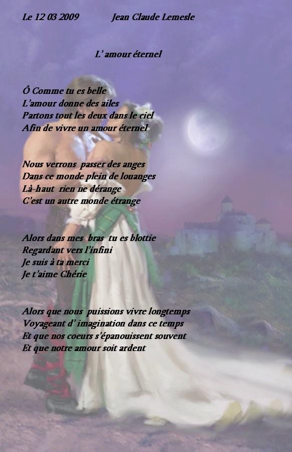 Fabuleux l'amour eternel poeme de jcl SN58