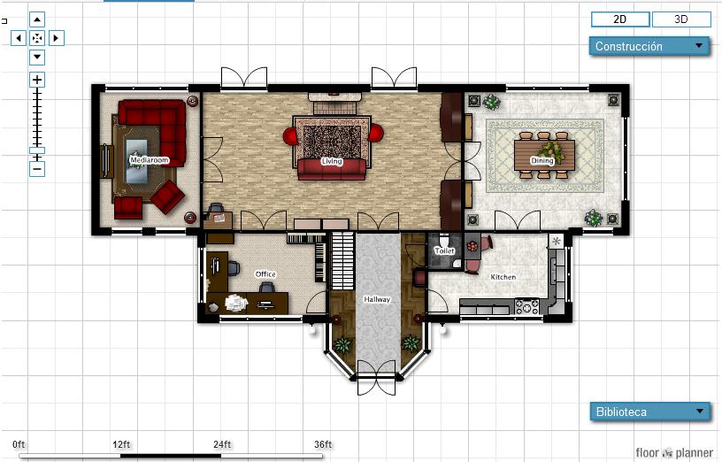 Tutoriales pruebas y mas crea planos 3d de tu casa online for Hacer planos 3d